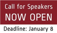 Call for Speakers Now Open